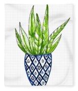 Chinoiserie Cactus No2 Fleece Blanket