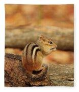 Chip On A Log Fleece Blanket