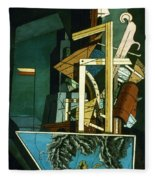 Chirico: Melancolie Fleece Blanket