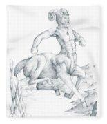 Chiron The Centaur Fleece Blanket