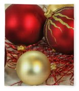 Chirstmas Ornaments Fleece Blanket