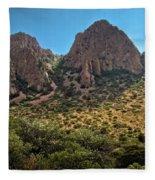 Chisos Mountain Range Fleece Blanket