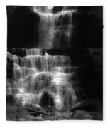 Chittenango Falls Bw Fleece Blanket