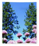 Chives Alive Fleece Blanket
