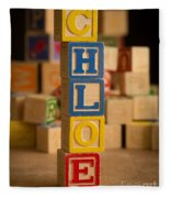 Chloe - Alphabet Blocks Fleece Blanket