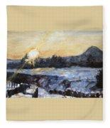 Chmelak Ze Zubatky V Zime Fleece Blanket