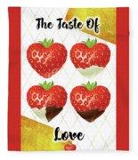 Chocolate - 7  Strawberry Fleece Blanket