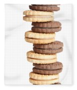Chocolate And Vanilla Creamed Filled Cookies  Fleece Blanket