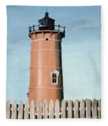 Chocolate Lighthouse Fleece Blanket