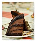 Chocolate Mousse Cake Fleece Blanket