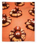 Chocolate Peanut Butter Spider Cookies Fleece Blanket
