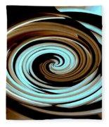 Chocolate Swirls Fleece Blanket