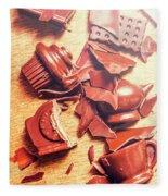 Chocolate Tableware Destruction Fleece Blanket