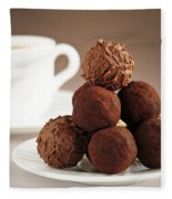 Chocolate Truffles And Coffee Fleece Blanket