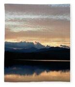 Chocorua At Sunset 2 Fleece Blanket