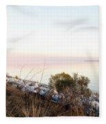 Choctawhatchee Bay Sunset Fleece Blanket