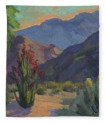 Cholla At Smoketree Ranch Fleece Blanket