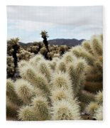 Cholla Cactus Garden Landscape Fleece Blanket