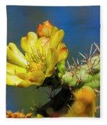 Cholla Flower H40 Fleece Blanket
