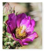 Cholla Flower Fleece Blanket