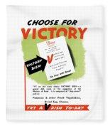 Choose For Victory -- Ww2 Fleece Blanket