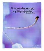 Choose Hope Fleece Blanket