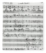 Chorus Of Shepherds, Handwritten Score Of The Opera Ascanio In Alba Fleece Blanket