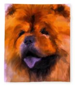 Chow Portrait Fleece Blanket