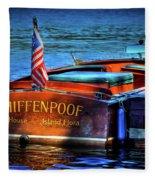 1958 Chris Craft Utility Boat Fleece Blanket