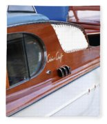 Chris Craft Enclosed Cruiser Fleece Blanket