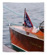 Chris Craft Runabout Fleece Blanket