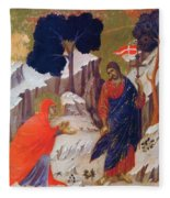 Christ Appearing To Mary 1311 Fleece Blanket
