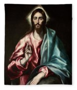 Christ As Saviour Fleece Blanket