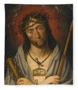 Christ As The Man Of Sorrows Fleece Blanket