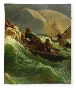 Christ Asleep In His Boat  Fleece Blanket