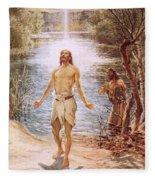 Christ Baptised By John The Baptist Fleece Blanket