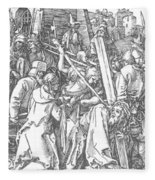 Christ Bearing The Cross 1509 Fleece Blanket