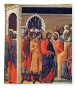 Christ Before Caiaphas 1311 Fleece Blanket