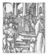 Christ Before Pilate 1511 Fleece Blanket