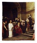 Christ Before Pilate Fleece Blanket