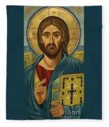 Christ Blessing - Jccbl Fleece Blanket