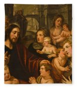 Christ Blessing The Children Fleece Blanket
