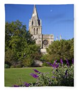 Christ Church Cathedral Oxford University Uk Fleece Blanket