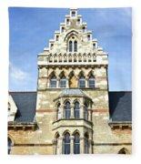 Christ Church College Oxford Architecture Fleece Blanket