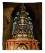 Christ Church With Saint Mary Font Fleece Blanket
