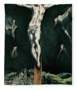 Christ Crucified With Toledo In The Background Fleece Blanket