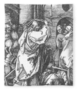 Christ Driving The Merchants From The Temple 1511 Fleece Blanket