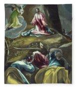 Christ In The Olive Garden Fleece Blanket