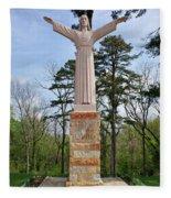 Christ Of The Ohio Fleece Blanket