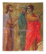 Christ On The Road To Emmaus Fragment 1311 Fleece Blanket
